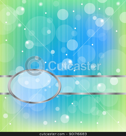olorful bokeh abstract light background with metallic frame stock vector clipart, Illustration colorful bokeh abstract light background with metallic frame- vector by -=Mad Dog=-