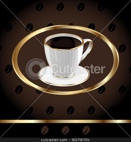 Vintage background for wrapping coffee, coffee bean texture stock vector clipart, Illustration vintage background for wrapping coffee, coffee bean texture - vector by -=Mad Dog=-