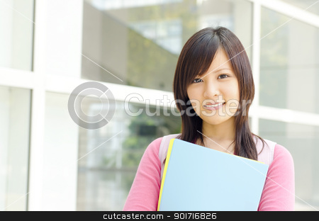 College Student stock photo, College Student standing outside college building by szefei