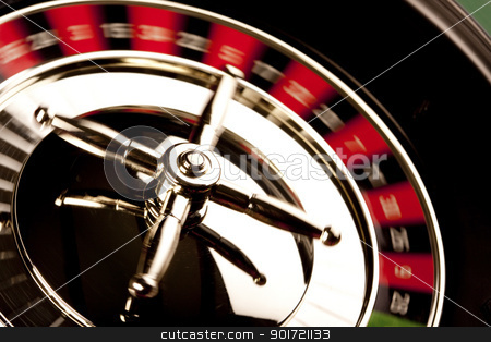 Roulette in casino stock photo, Roulette in casino by fikmik