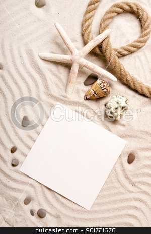 Say hello! Beach and message concept stock photo, Say hello! Beach and message concept by fikmik