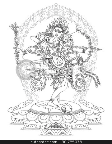Kurukulla Buddhist Deity stock photo, Kurukulle Bhagavati by Cenny Barlian