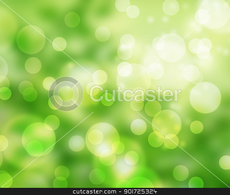 Spring abstract bokeh background stock photo, blurred background, natural green colors by manaemedia