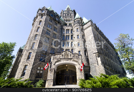 Summer Confed stock photo, The Canadian Parliament Confederation Building on Wellington Street in Ottawa. by Michel Loiselle