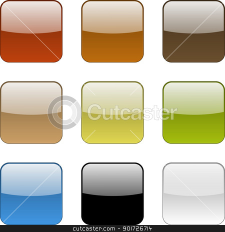 Colorful web app empty buttons collection stock photo, Colorful web app empty isolated buttons collection illustration by make