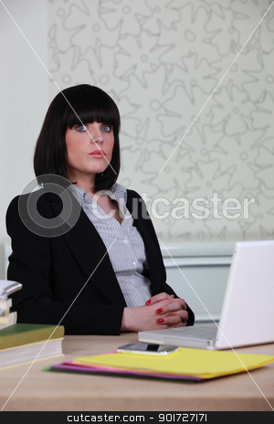 a business woman at work stock photo, a business woman at work by photography33