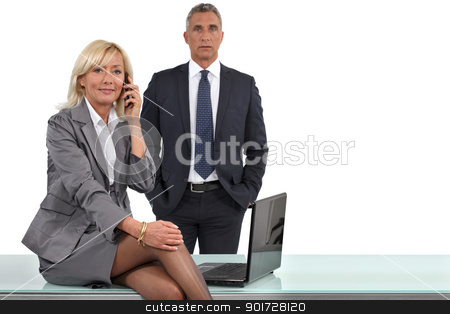 elegant business couple at the office stock photo, elegant business couple at the office by photography33