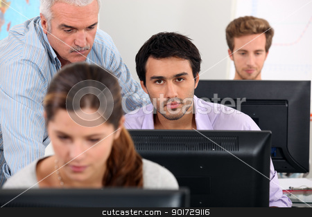 ICT lesson stock photo, ICT lesson by photography33