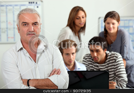 group of persons on a computer stock photo, group of persons on a computer by photography33