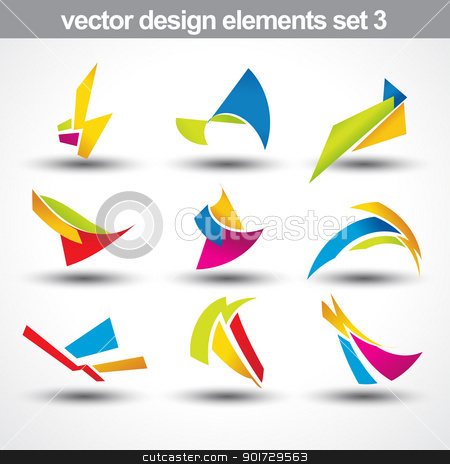 abstract shape vector stock vector clipart, abstract shape vector set 3 by pinnacleanimates