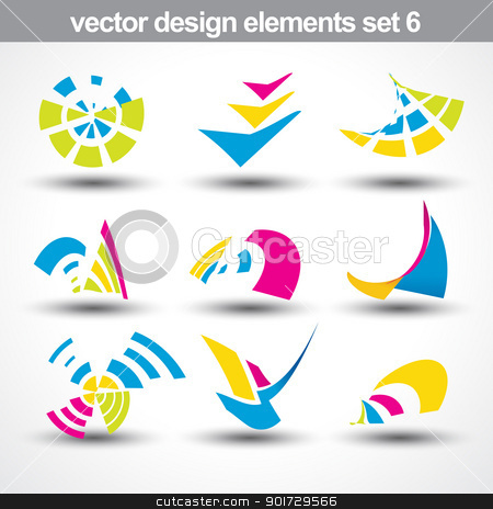abstract shape vector stock vector clipart, abstract shape vector set 6 by pinnacleanimates