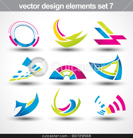 abstract shape vector stock vector clipart, abstract shape vector set 7 by pinnacleanimates