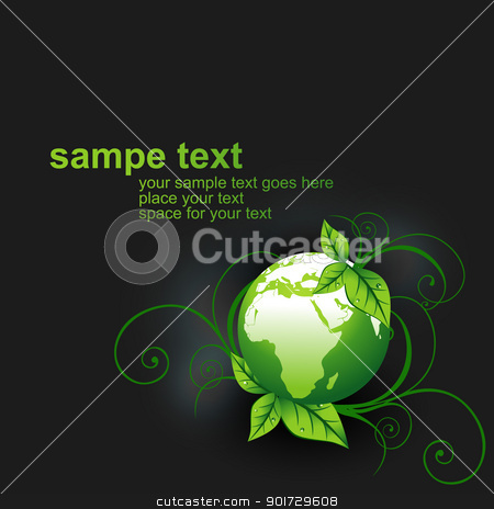 green vector earth stock vector clipart, green vector earth design illustration by pinnacleanimates