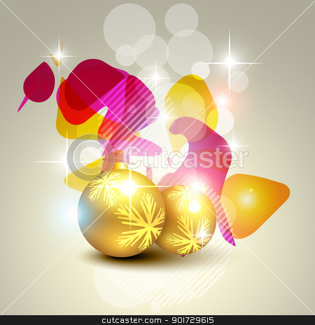 artistic christmas ball stock vector clipart, artistic christmas colorful ball vector design by pinnacleanimates
