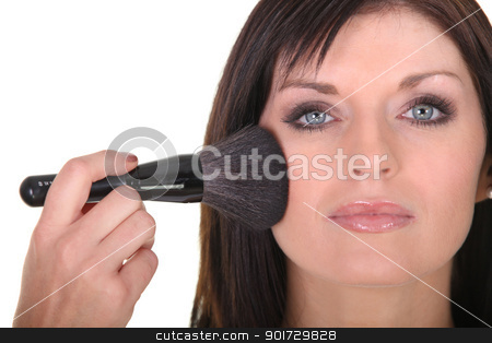 Young woman being makeup stock photo, Young woman being makeup by photography33