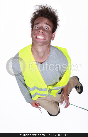 Man being electrocuted stock photo, Man being electrocuted by photography33
