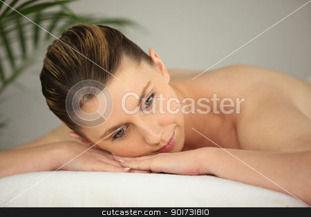 Woman on massage parlor stock photo, Woman on massage parlor by photography33