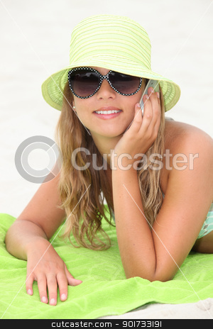 Teenager on the beach stock photo, Teenager on the beach by photography33