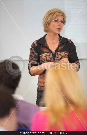Female college teacher stock photo, Female college teacher by photography33