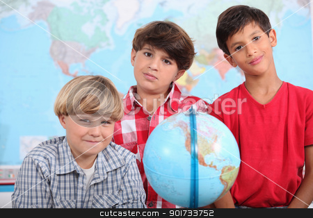 Little boys in classroom stock photo, Little boys in classroom by photography33