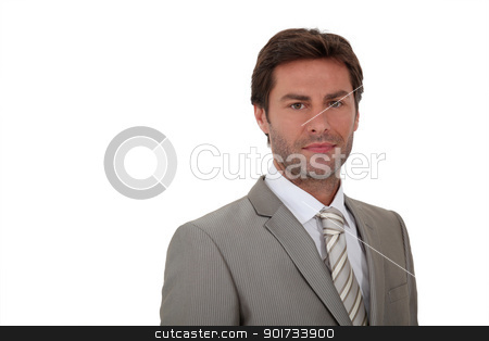 Man wearing suite white background stock photo, Man wearing suite white background by photography33