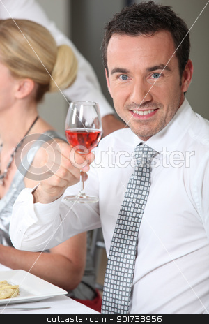 portrait of a man toasting stock photo, portrait of a man toasting by photography33