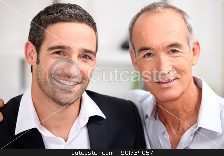Father and son business team stock photo, Father and son business team by photography33