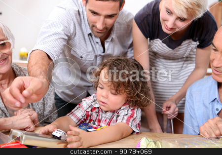 Family birthday party stock photo, Family birthday party by photography33