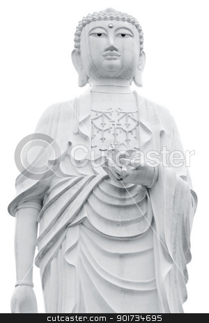 Buddha stock photo, Giant Buddha statue isolated on white background by szefei