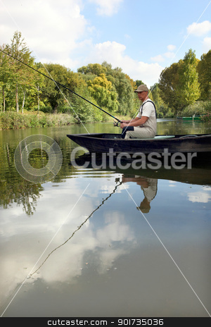 man fishing stock photo, man fishing by photography33