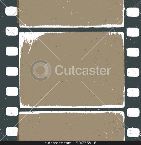 Empty grunge film strip design, may use as a background or overl stock vector clipart, Empty grunge film strip design, may use as a background or overlays. by pashabo