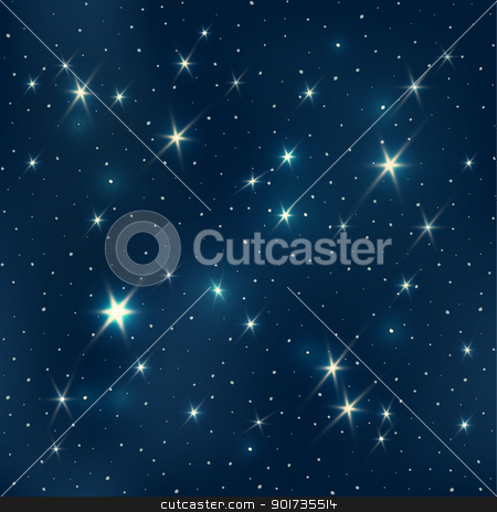 Night sky with stars, seamless pattern, EPS10 stock vector clipart, Night sky with stars, seamless pattern, EPS10 by pashabo