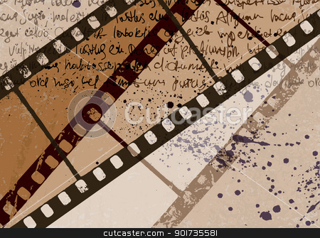 Grunge textured film frame abstract vector background. EPS10. stock vector clipart, Grunge textured film frame abstract vector background. EPS10. by pashabo