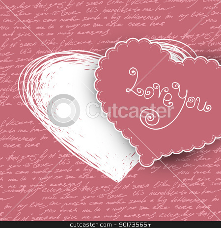 Valentines day card, vector illustration. stock vector clipart, Valentines day card, vector illustration. by pashabo