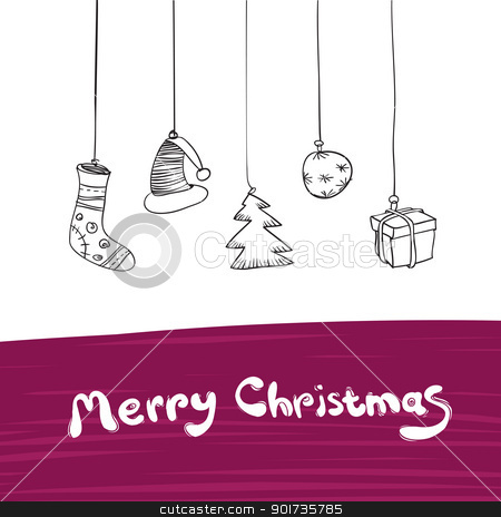 Merry Christmas Gifts Illustration. Vector, Eps8. stock vector clipart, Merry Christmas Gifts Illustration. Vector, Eps8. by pashabo
