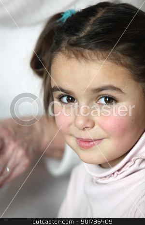 Little girl with mother stock photo, Little girl with mother by photography33