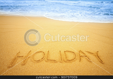 Holiday on the beach stock photo,