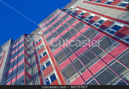 Modern Condominium stock photo, Modern urban building. Glass balconies. by Yury Ponomarev