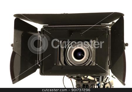 Professional digital video camera. stock photo, Professional digital video camera on a white background. by Yury Ponomarev