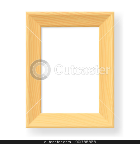 Realistic wooden frame stock photo, Realistic wooden frame. The form number two.  Illustration on white background by dvarg