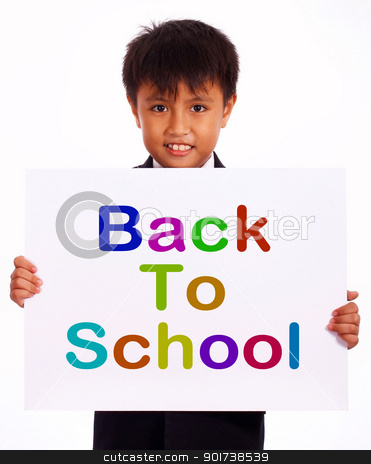 Back To School Sign As Symbol For Education stock photo, Back To School Sign As Symbol For Education And Learning by stuartmiles