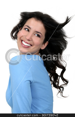 Carefree woman stock photo, Carefree woman by photography33