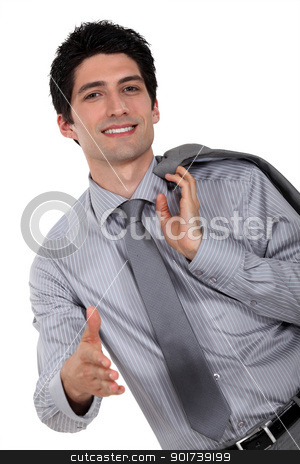Confident businessman offering to shake hand stock photo, Confident businessman offering to shake hand by photography33