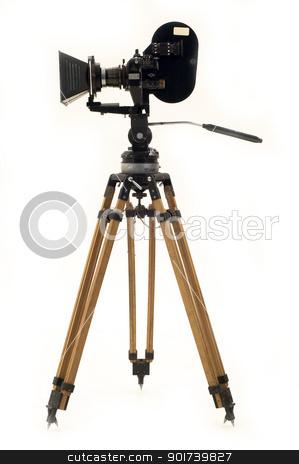 The movie camera and tripod. stock photo, Professional 35 the movie camera and tripod. by Yury Ponomarev