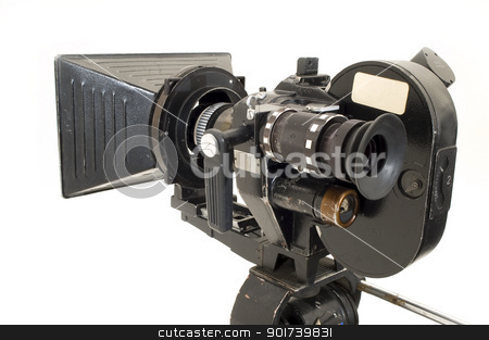 Professional 35 mm the film-chamber. stock photo, Professional 35 mm the film-chamber on a white background. by Yury Ponomarev