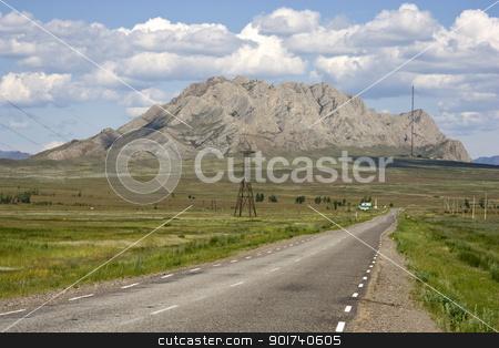 Mountain road. stock photo, Empty mountain road. by Yury Ponomarev