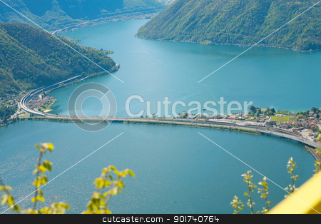 Lugano lake in Switzerland  stock photo, Lugano lake in Switzerland   by dacasdo