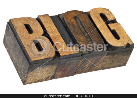 blog word in letterpress wood type stock photo, blog - internet concept - isolated word in vintage  letterpress wood type by Marek Uliasz