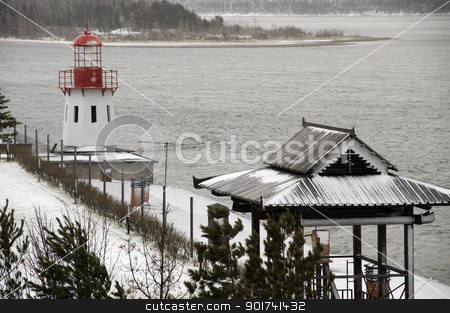 Beacon. stock photo, Beacon at coast. by Yury Ponomarev