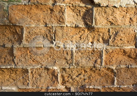 Old brick wall. stock photo, Old wall from a red brick. by Yury Ponomarev